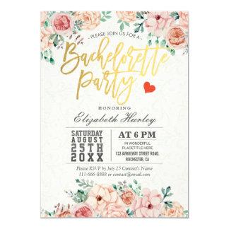 Convite floral da festa de solteira da aguarela