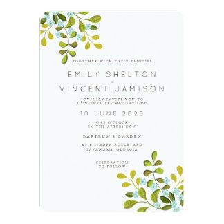 Convite floral da série do casamento do jardim do