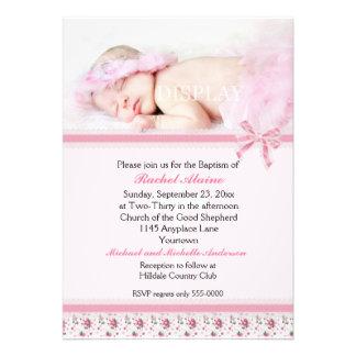 Convite floral do baptismo da foto