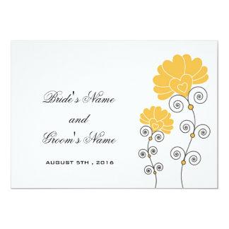 Convite floral do casamento dos redemoinhos convite 12.7 x 17.78cm