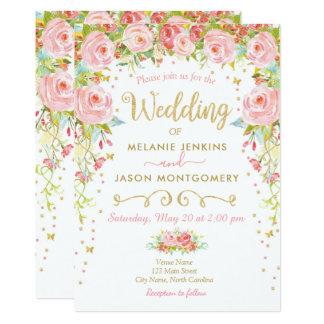 Convite floral do casamento, jardim do verão do