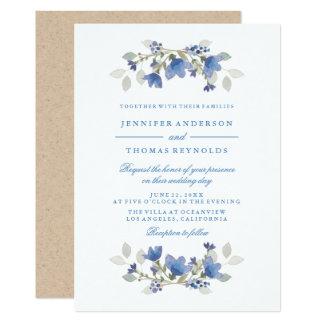 Convite floral intemporal do casamento