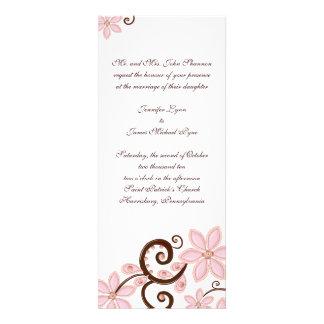 Convite floral moderno do casamento - comprimento