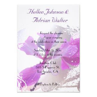 Convite floral romântico do casamento