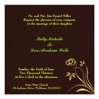 Convite floral Wedding
