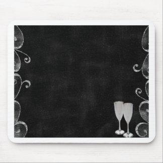 Convite formal da recepção de casamento de prata p mouse pads