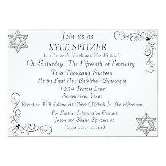 Convite formal de Mitzvah do bar