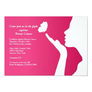 Convite Fundraising do cancro da mama novo do dia