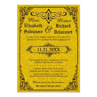 Convite gótico do casamento do Victorian Convite 12.7 X 17.78cm