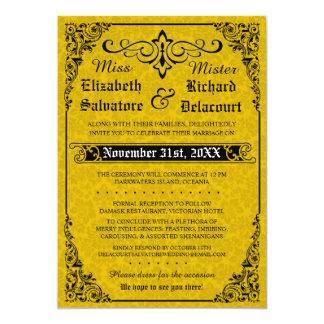 Convite gótico do casamento do Victorian