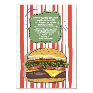 Convite grande do hamburguer