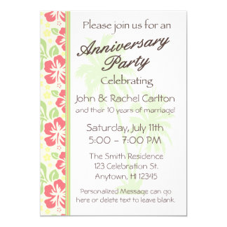 Convite havaiano da festa de aniversário do