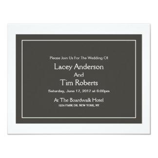 Convite liso do casamento do monograma