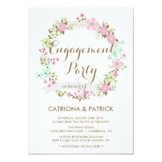 Convite lunático da festa de noivado da grinalda