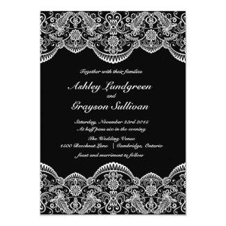 Convite marroquino preto e branco do casamento do