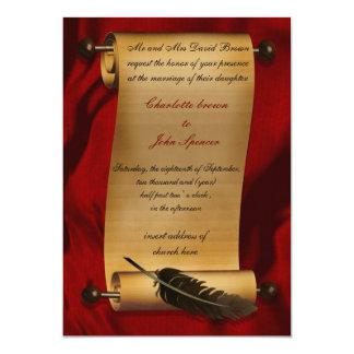convite medieval do vintage do rolo