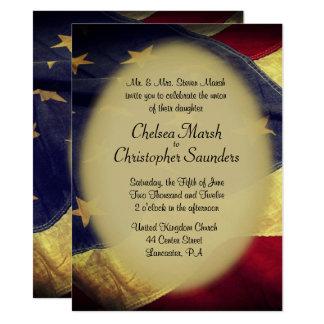 Convite militar do casamento da bandeira americana