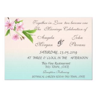 Convite moderno bonito do casamento da árvore de