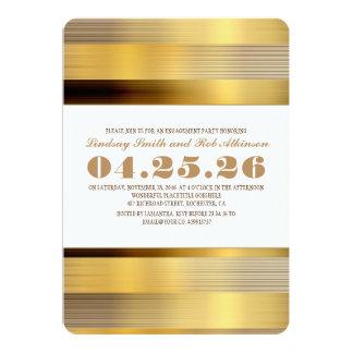 convite moderno da festa de noivado do ouro