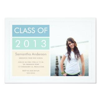 Convite moderno da graduação da foto -