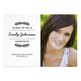 Convite moderno da graduação da foto