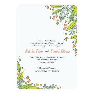 Convite moderno do casamento do jardim