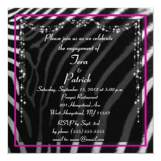 Convite na moda da festa de noivado do impressão