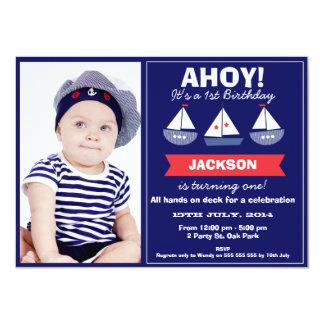 Convite náutico do aniversário dos barcos de vela