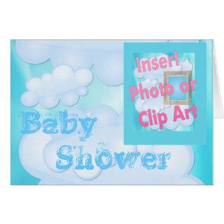 Convite nupcial do convite do chuveiro de bebê cartão comemorativo