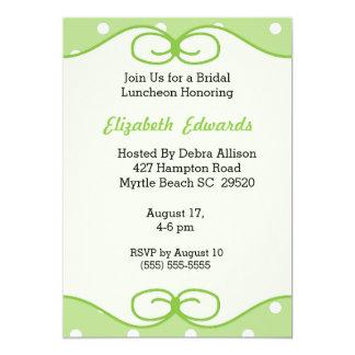 Convite nupcial verde do almoço da hortelã convite 12.7 x 17.78cm
