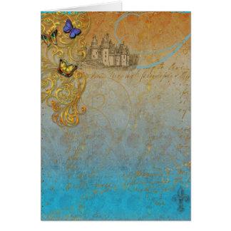 Convite ou cartão medieval do conto de fadas