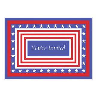 Convite patriótico da bandeira dos Estados Unidos
