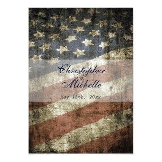 Convite patriótico do casamento da bandeira dos