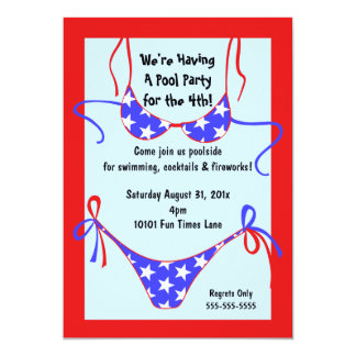 Convite patriótico do terno de natação