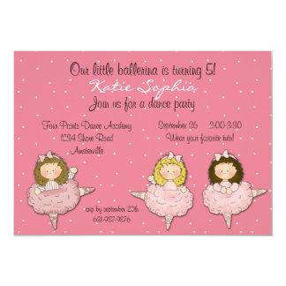 Convite pequeno de três bailarinas