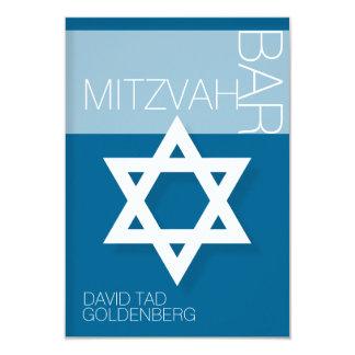 Convite personalizado Mitzvah do bar da estrela de Convite 8.89 X 12.7cm