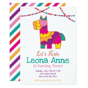 Convite Piñata do aniversário da festa do Pinata f20c9474128