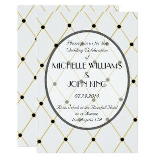 Convite pontilhado elegante do casamento do teste