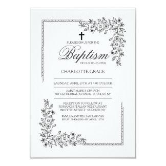 Convite religioso da bênção florido