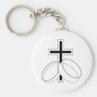 Convite religioso do casamento chaveiro
