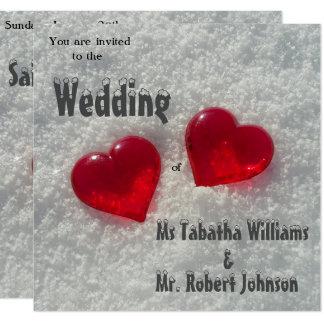 Convite romântico do casamento no inverno