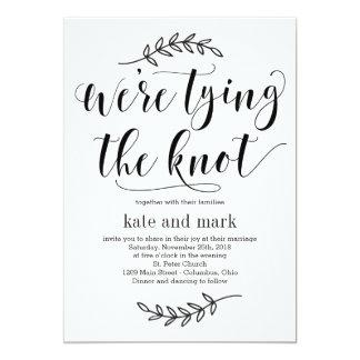 Convite rústico do casamento da elegância