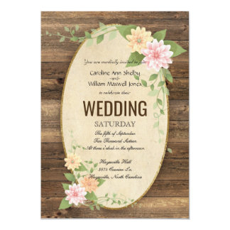Convite rústico do casamento da flor do primavera
