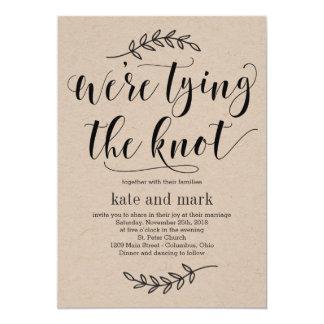 Convite rústico Kraft do casamento da elegância