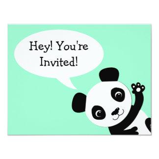 Convite simples do aniversário do urso de panda