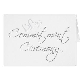 Convite sofisticado da cerimónia do compromisso cartão comemorativo