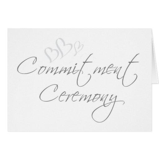 Convite sofisticado da cerimónia do compromisso cartões