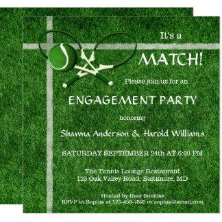 Convite temático da festa de noivado do fósforo do