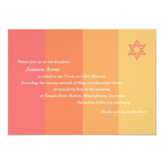 Convite Tonal de Mitzvah do bastão do citrino
