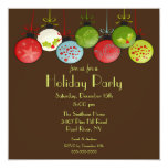 Convite verde da festa natalícia dos enfeites de convite quadrado 13.35 x 13.35cm